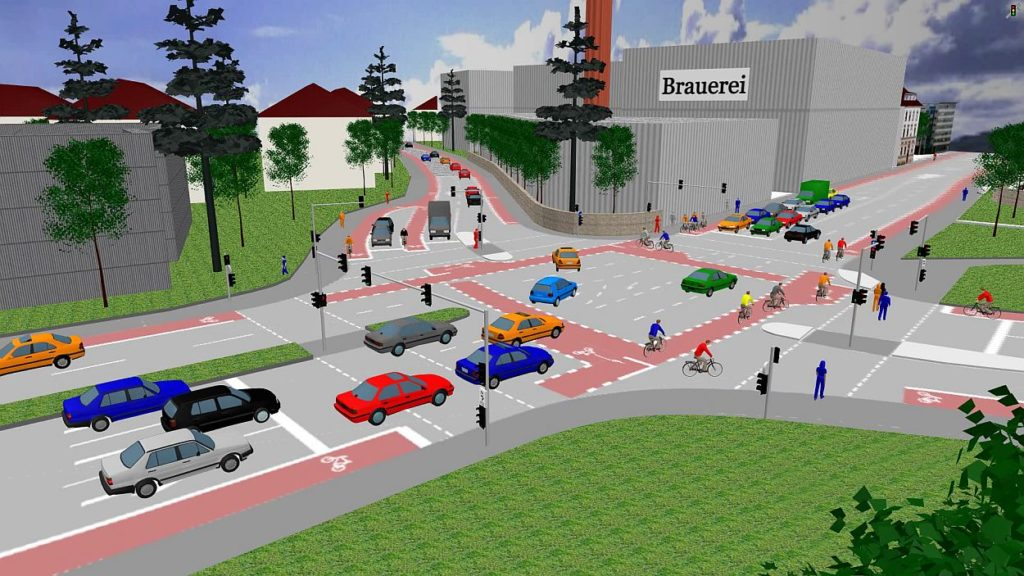 Verkehrsmodell makroskopische Ebene